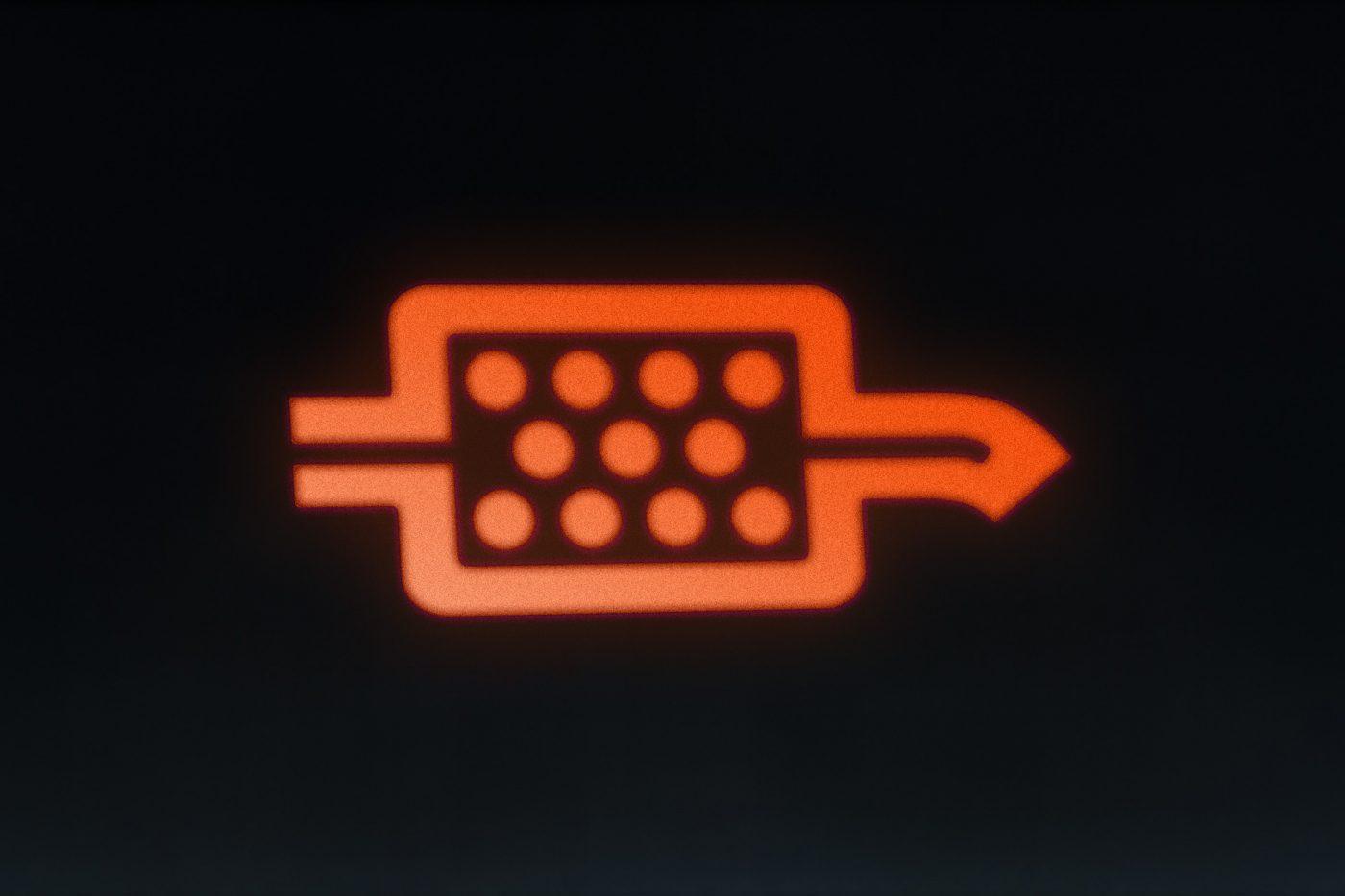 DPF warning light
